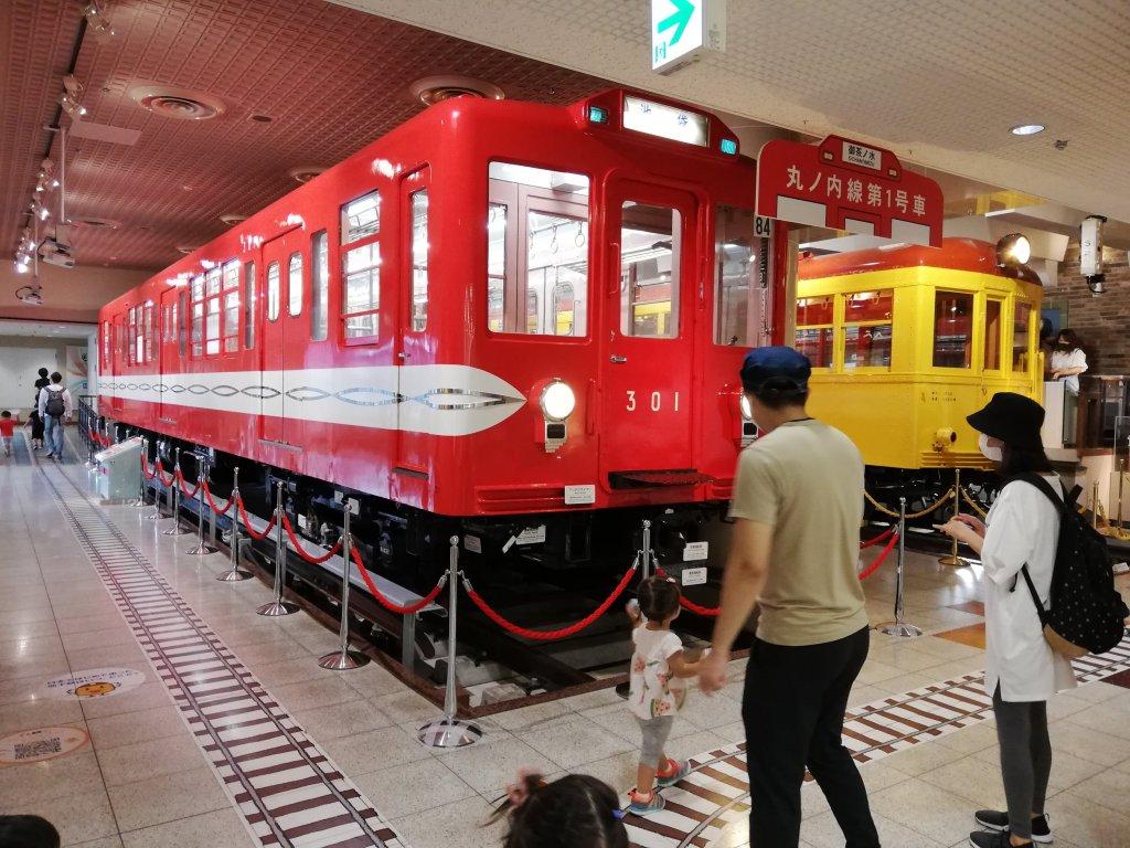 地下鉄博物館の車体展示