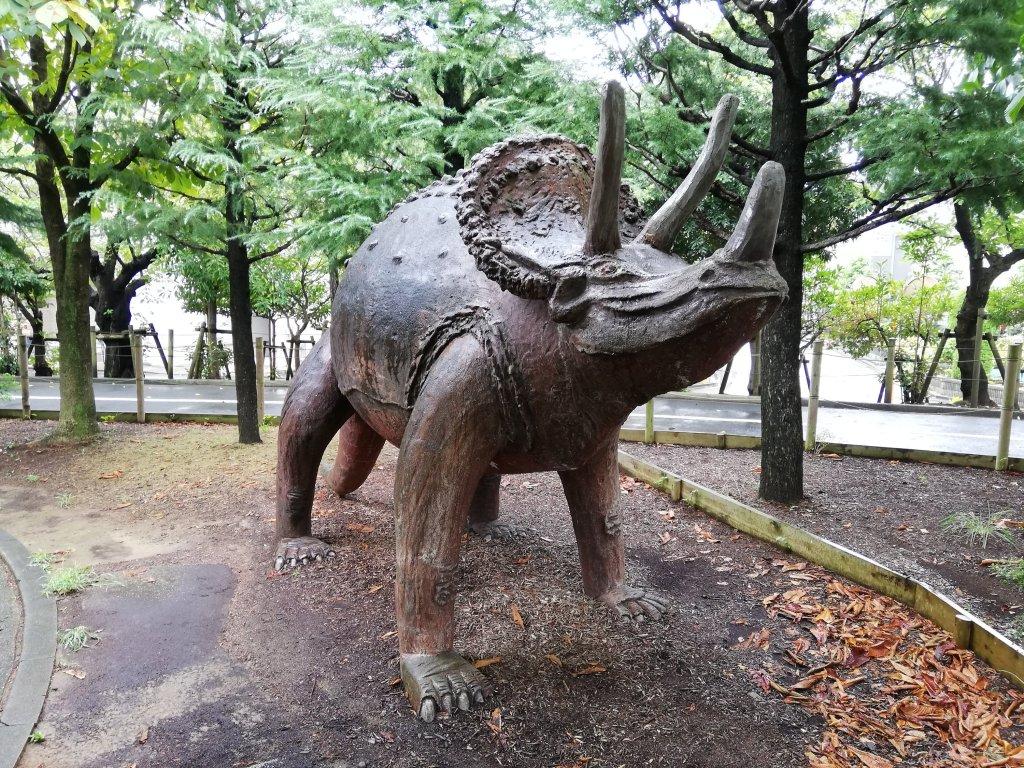 北沼公園のトリケラトプス