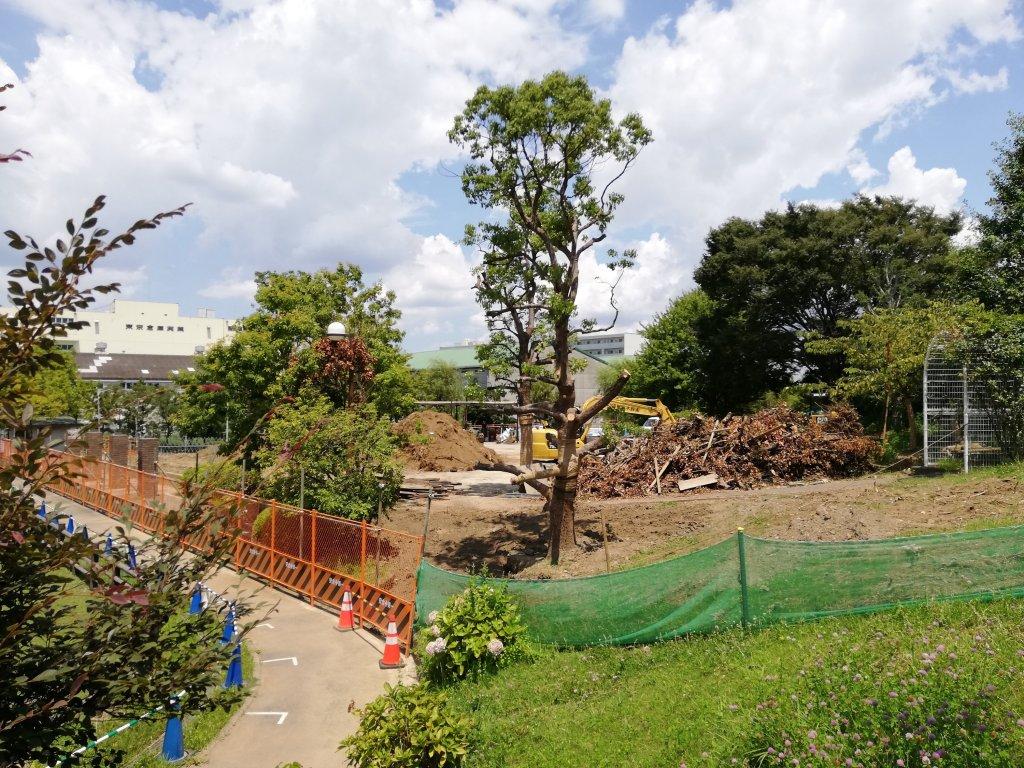 江戸川区なぎさ公園の遊具は工事中だった