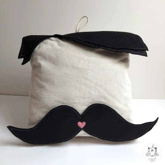 pouf monsieur moustache