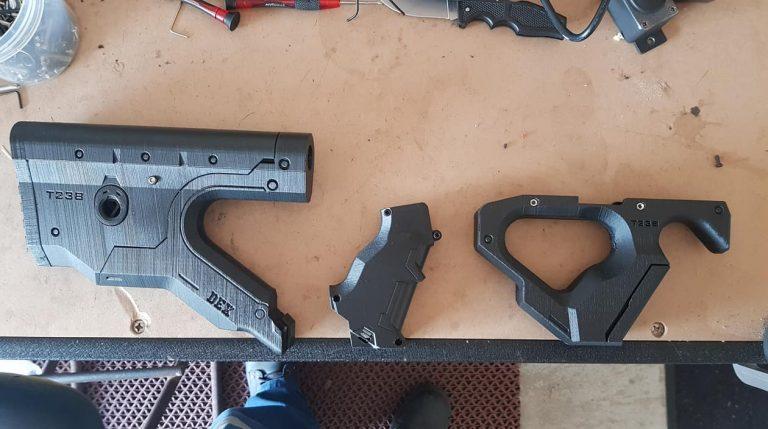 "Crosse, garde main, imprimés 3D ""Hera"" Gel Blaster"