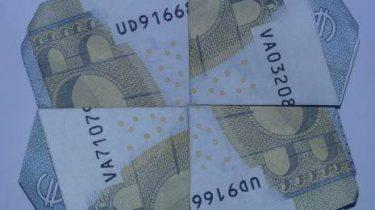 Kleeblatt Aus Geldscheinen Falten Origami Mit Geldscheinen