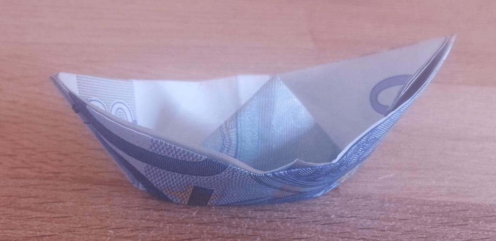 Amazing Schiff Aus Einem Geldschein Falten Origami Mit Geldscheinen