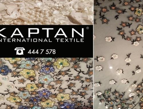 Gelinlik el işli kumaş modelleri online kumaşçı sitemiz ile toptan perakende kumaşçı Kaptan Textile kumaş mağazalarımızda satılıyor.