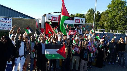 Protest i solidaritet med Palæstina