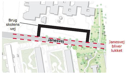 Janesvej lukker frem til nytår