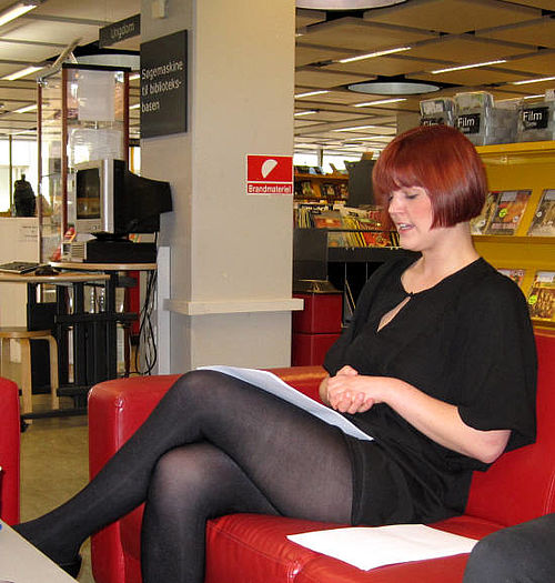 """Liv Holm vendte """"hjem"""" til Gellerup Bibliotek for en aften"""