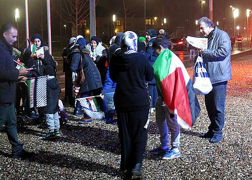 Fredelig optakt til demonstration