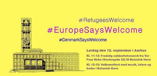 Flygtninge bydes velkommen til Aarhus