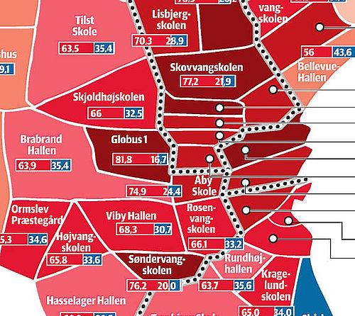 Gellerup er det rødeste område