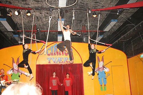 Unge cirkusartister i Gellerup