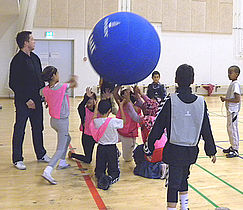 Kin-ball – stort spil i Globus1