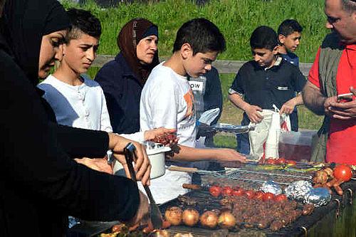 Sommerfest bugner af kød