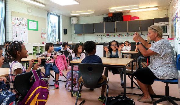 20 nye børnehaveklassebørn på Lykkeskolen