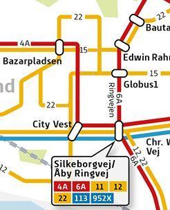 Oversigt over berørte busser i Gellerup og Toveshøj