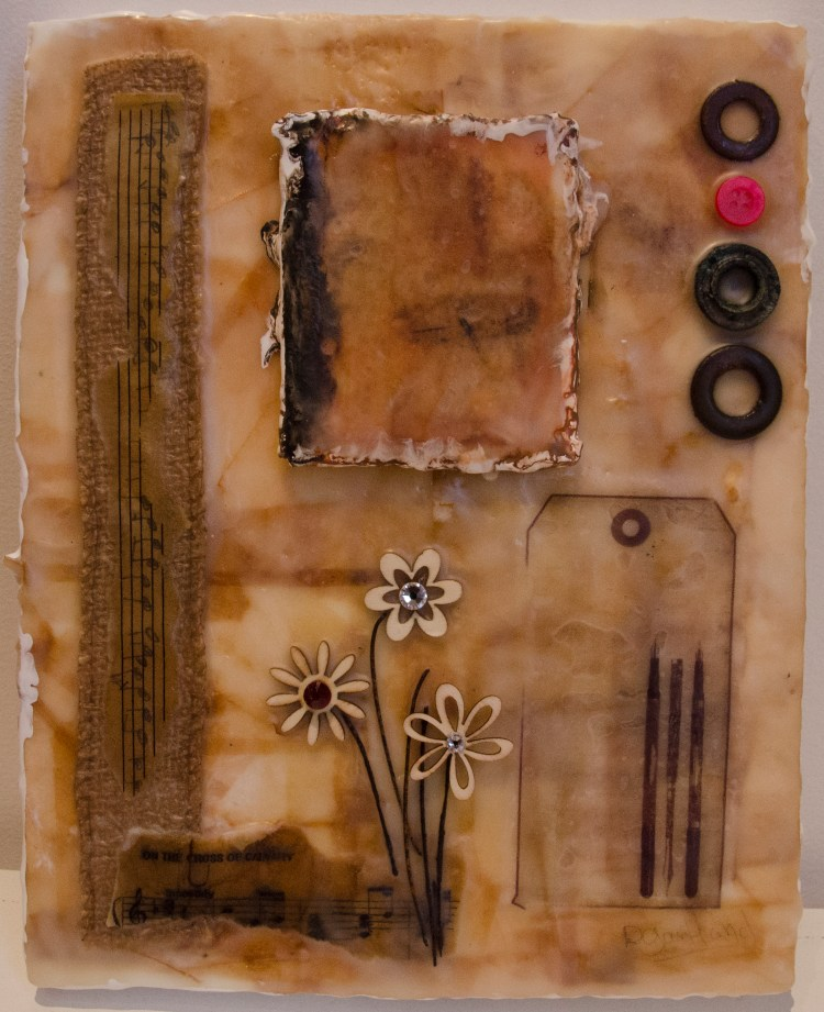 Calvary Cross - Encaustic Painting with Mixed Media