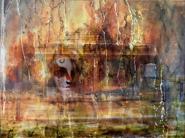 Mysterious House - A4 Illustrative composite photography by Deb Gartland