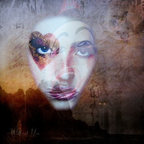 Without You - Square Illustrative composite photography by Deb Gartland