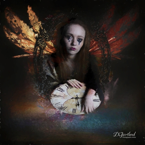 Untitled Woman 1 - Square Illustrative composite photography by Deb Gartland