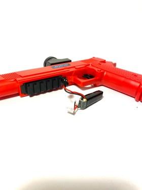 Gellyball pistol and battery