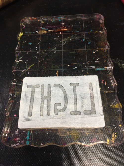 Gel Press using words with Jen Kitchen