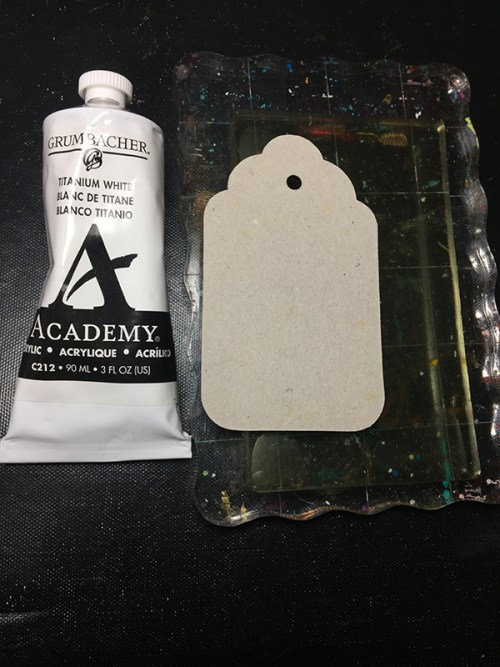 Making a quick tag from chipboard