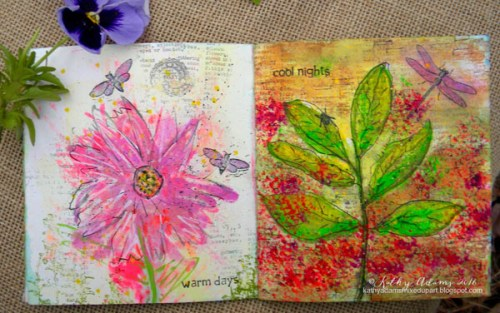 Gel Press Spring book by Kathy Adams pages 2-3