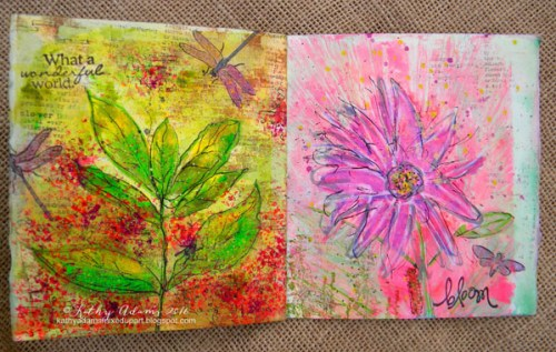 Gel Press Spring Book by Kathy Adams pages 9-10