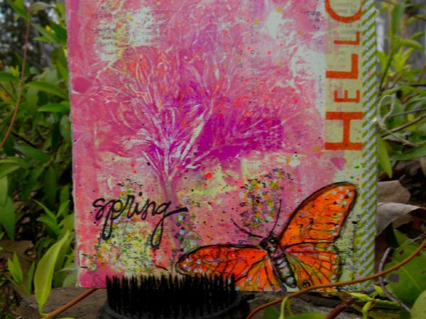 Printing with Real Flowers in an Art Journal