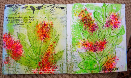 Gel Press Spring Book by Kathy Adams pages 5-6