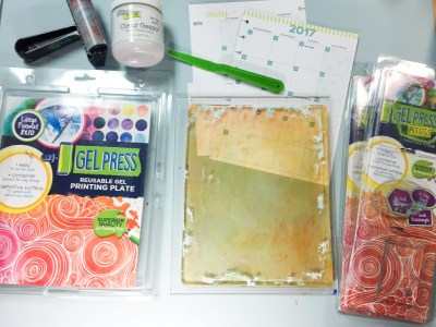 Supplies for Gel Press Planner Pages