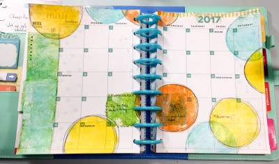 Cheryl Boglioli Gel Press Planner Page May