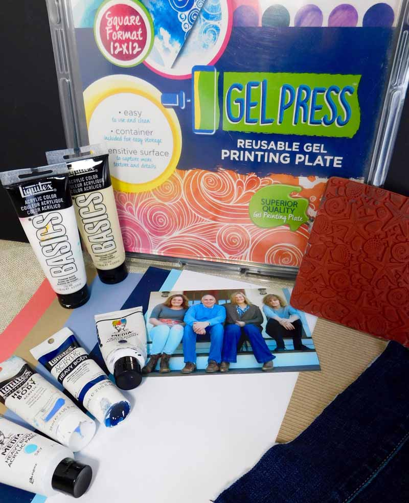Create your own scrapbook - See How Kathy Makes Her Own Patterned Paper Using 12 X 12 Gel Press