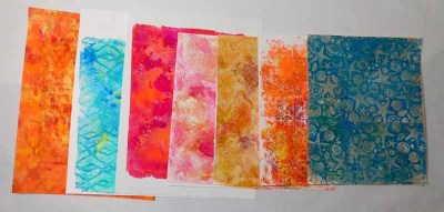 Gel Press® Prints on Strathmore Mixed Media paper for Artsy Business Card Project