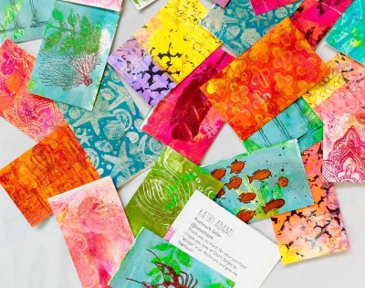 Handmade Art Business Cards by Kathy Adams with Gel Press®