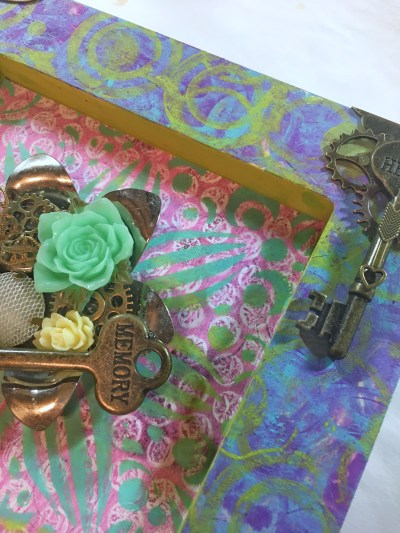 Gel Press Shadow box by Keri Sallee