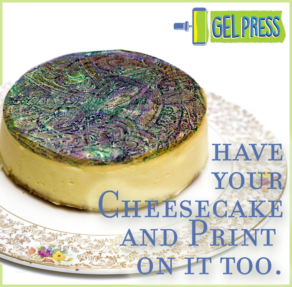 Gel Press Printing On Food With Sugar Sheets And Coloring