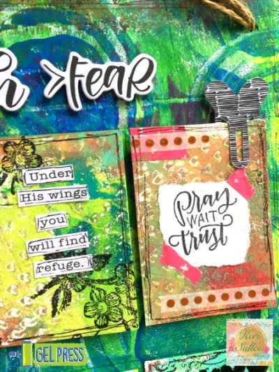 Faith over Fear ATC project with Keri Sallee for Gel Press