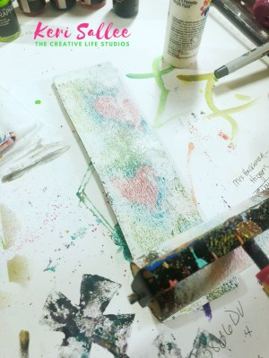 Acrylic Paint bible journaling
