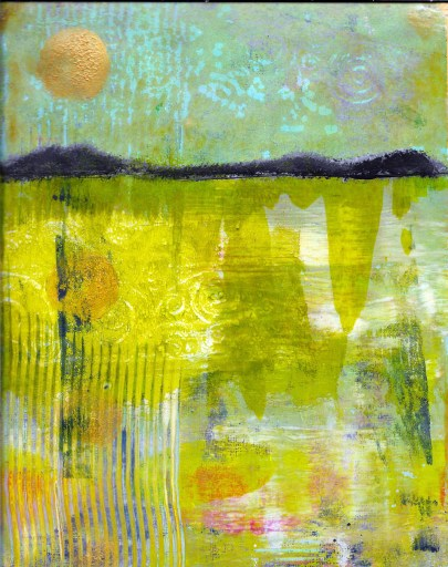Gold Moon by Linda Crocco for Gel Press