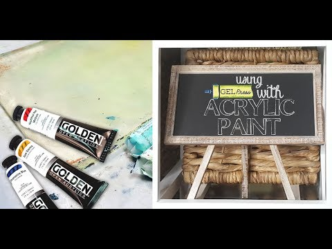 Using Gel Press with Acrylic Paint