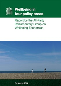 Cover van het rapport Wellbeing in Four Policy Areas