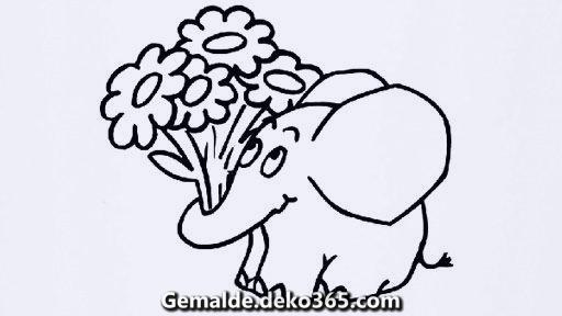 Malvorlagen Elefant Gratis - x13 ein Bild zeichnen