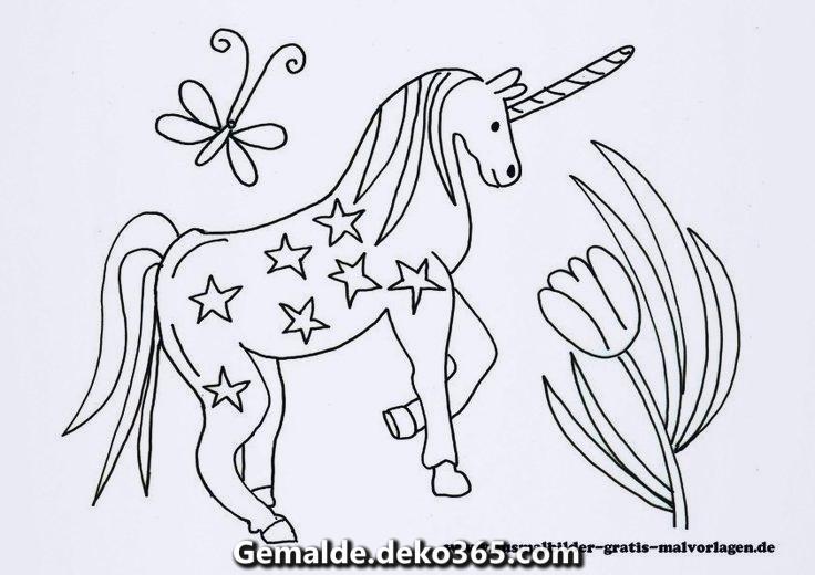 Einhorn malvorlage - Ausmalbilder zum Besten von kinder
