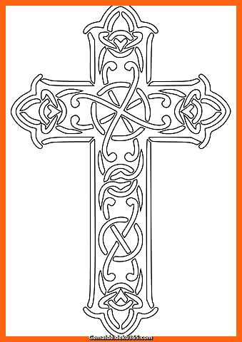 Kreuz ausmalbilder ausmalbild keltisches kreuz