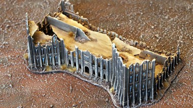 Epic Armageddon Scenery - ruined office building 2 frint
