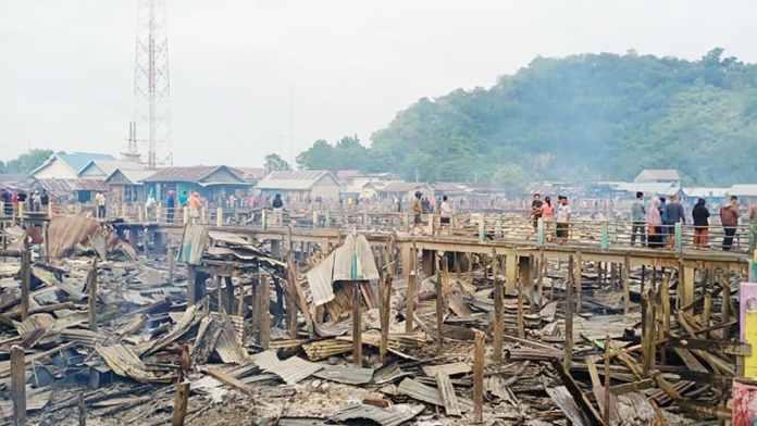 385 Rumah Terbakar, Satu Korban Jiwa di Tolitoli Sulawesi Tengah