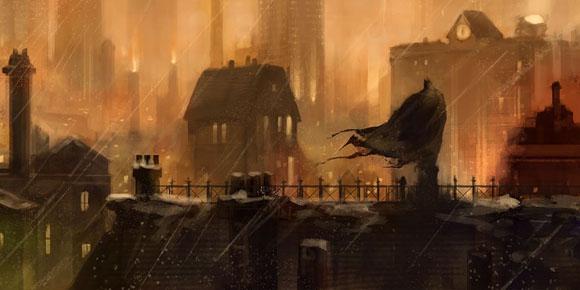 Sonic Fall November Wallpaper Batman Arkham City Art Oversees Gotham Gematsu