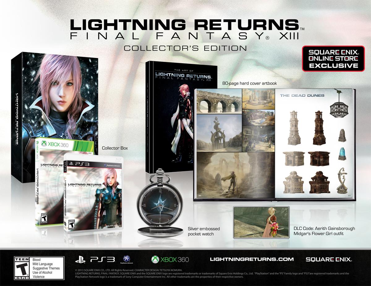 Lightning Returns Final Fantasy XIII Collectors Edition Announced Gematsu