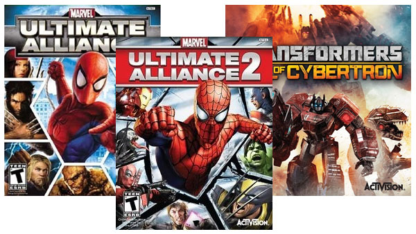 Marvel: Ultimate Alliance 1 and 2, Transformers: Fall of Cybertron